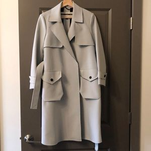 Topshop pale blue trench duster coat size US4 UK8